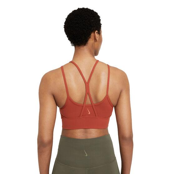 Nike Womens Yoga Dri-FIT Indy Light-Support Sports Bra, Orange, rebel_hi-res