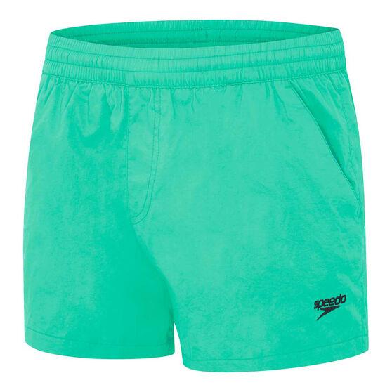 Speedo Mens Shortie Watershort, Green, rebel_hi-res