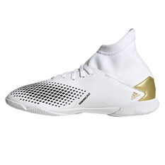 adidas Predator 20.3 Kids Indoor Soccer Shoes White/Gold US 1, White/Gold, rebel_hi-res