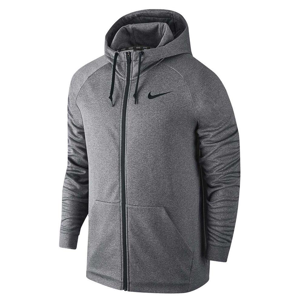 98355722 Nike Mens Therma Full Zip Hoodie Grey S adult, Grey, rebel_hi-res