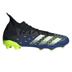 adidas Predator Freak .3 Football Boots Black US Mens 4 / Womens 5, Black, rebel_hi-res