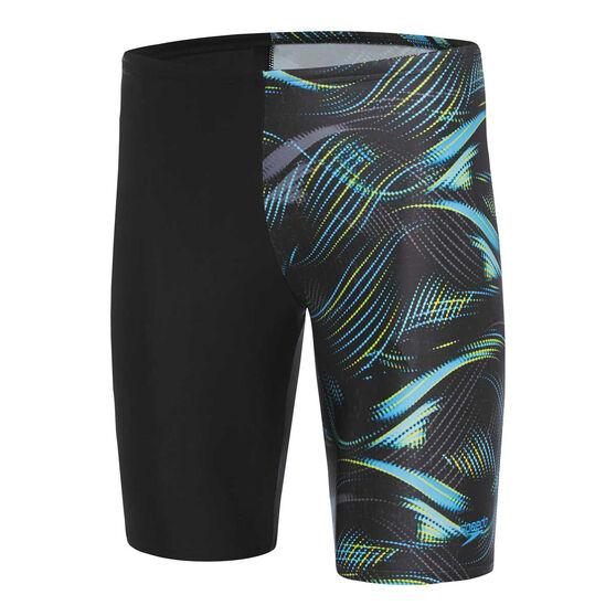 Speedo Mens Leisure Current Waterboy Swim Shorts, Black, rebel_hi-res