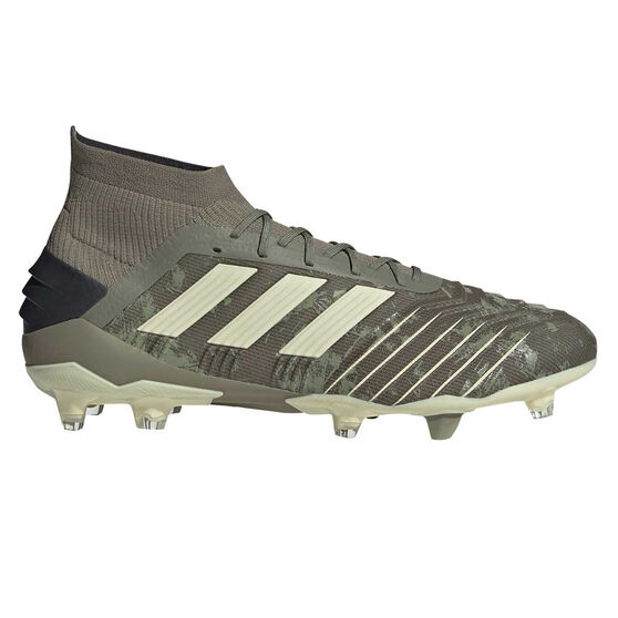 adidas Predator 19.1 Football Boots Green / Yellow, Green / Yellow, rebel_hi-res