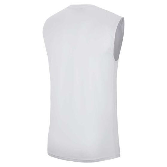 Nike Mens Dri-FIT Reverse Seasonal Singlet, White, rebel_hi-res