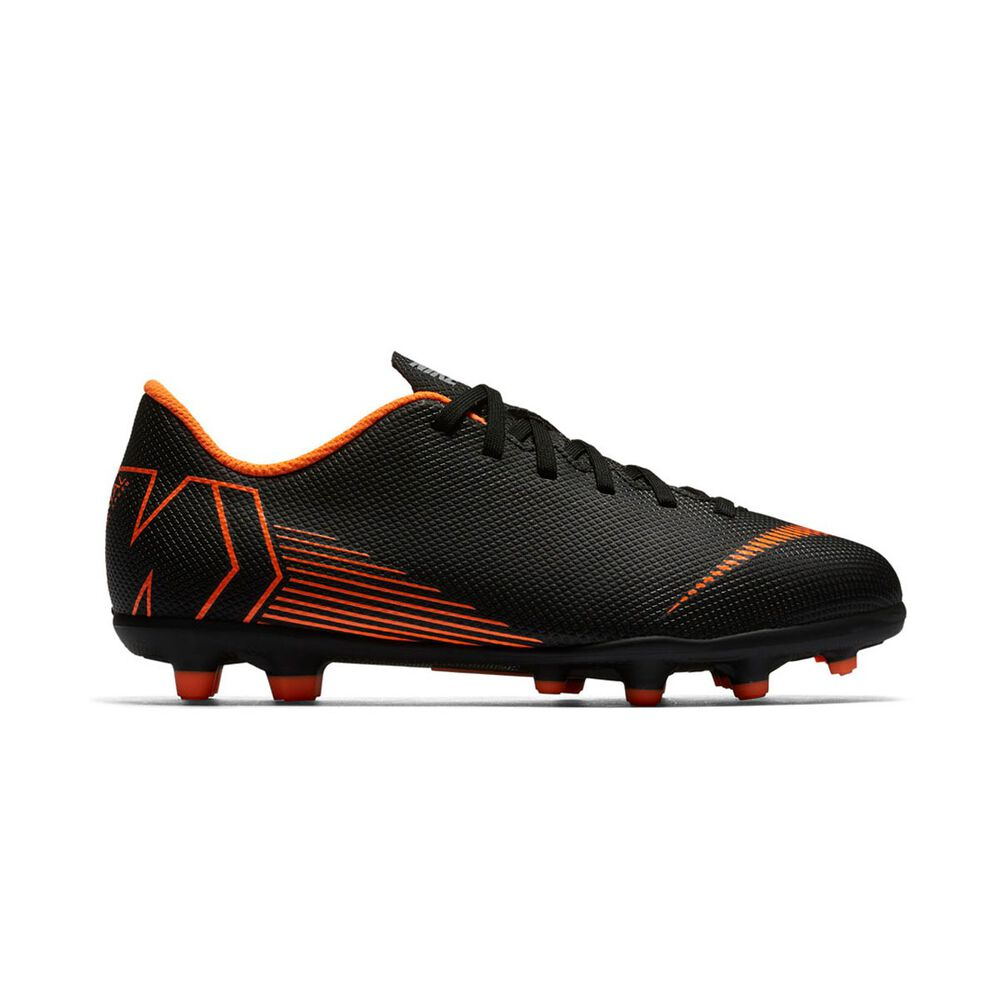 b52655ac24e1 Nike Mercurial Vapor Club Kids Football Boots Black   Orange US 1 Junior