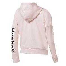 Reebok Womens Training Essentials Full Zip Sweater Pink XS, Pink, rebel_hi-res