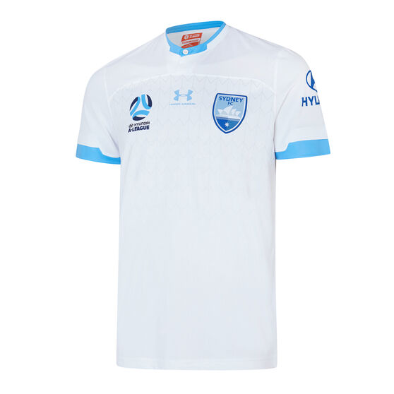 Sydney FC 2019/20 Mens Away Jersey, White, rebel_hi-res