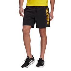adidas Mens Essentials Linear Chelsea Shorts, Black, rebel_hi-res
