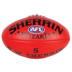 Sherrin Wizard Australian Rules Football Red 2, Red, rebel_hi-res