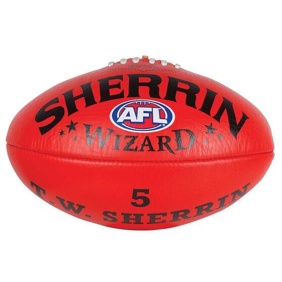 Sherrin Wizard Australian Rules Football, Red, rebel_hi-res