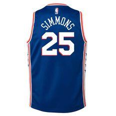 Nike Philadelphia 76ers Ben Simmons 2019 Kids Swingman Jersey Rush Blue S, Rush Blue, rebel_hi-res