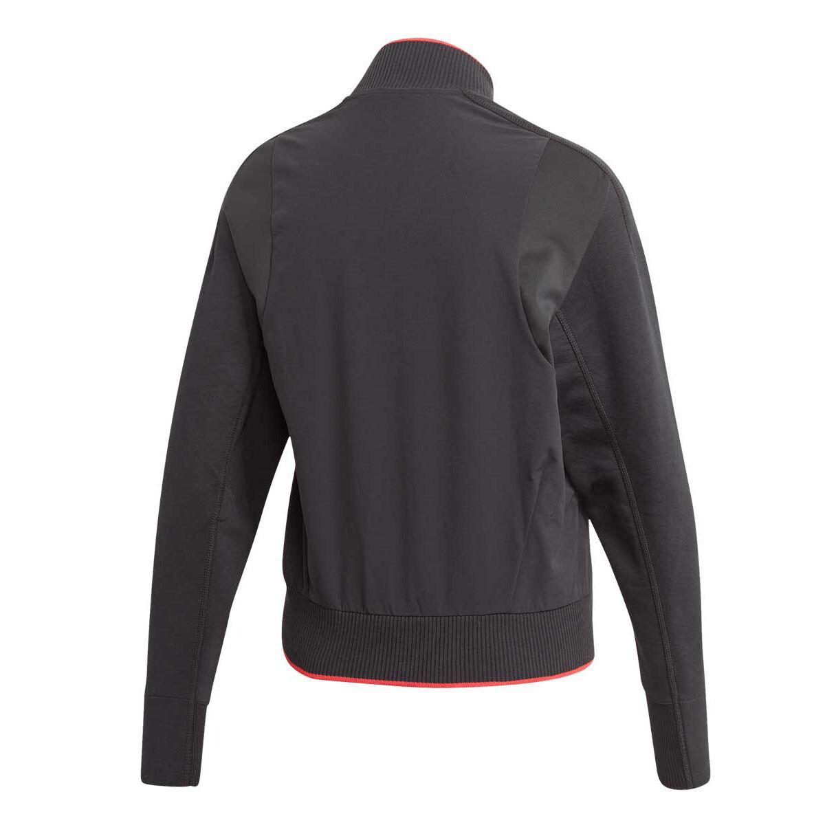 Miami Hurricanes NCAA Adidas Men's Gore Tex Perf. Black Full Zip Rain Jacket