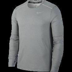 Nike Mens Element 3.0 Running Crew Grey S, Grey, rebel_hi-res