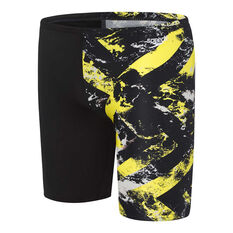 Speedo Boys School Colours Jammer Yellow 6, Yellow, rebel_hi-res
