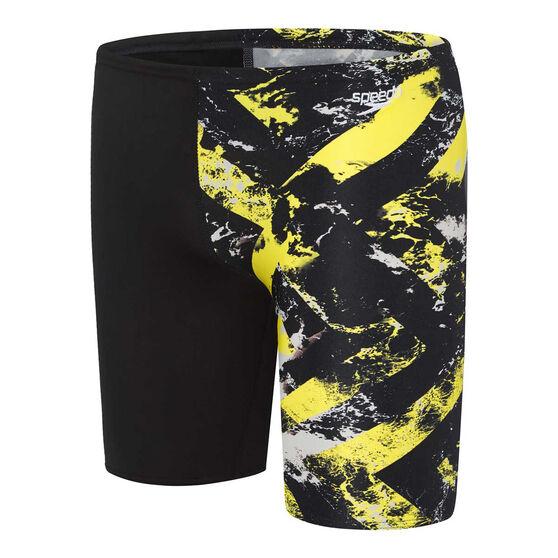 Speedo Boys School Colours Jammer, Yellow, rebel_hi-res