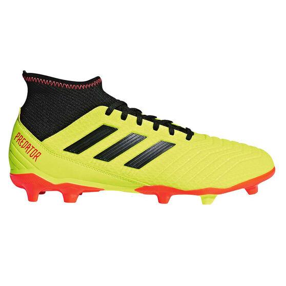 adidas Predator 18.3 Mens Football Boots, Lime / Black, rebel_hi-res