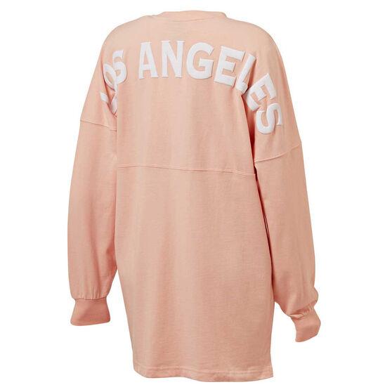 Majestic Womens LA Oversized Tee Pink XS, Pink, rebel_hi-res