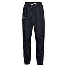 Under Armour Girls Woven Play Up Pants Black XS, Black, rebel_hi-res