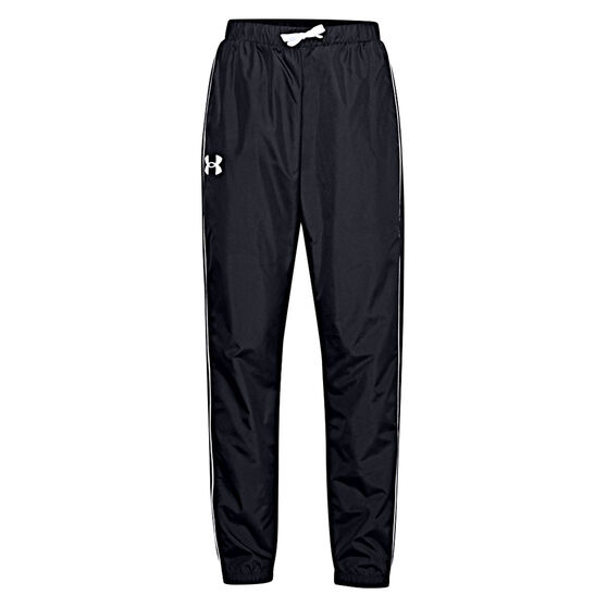 Under Armour Girls Woven Play Up Pants, Black, rebel_hi-res