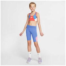 Nike Girls Trophy Bike Shorts, Blue/Pink, rebel_hi-res