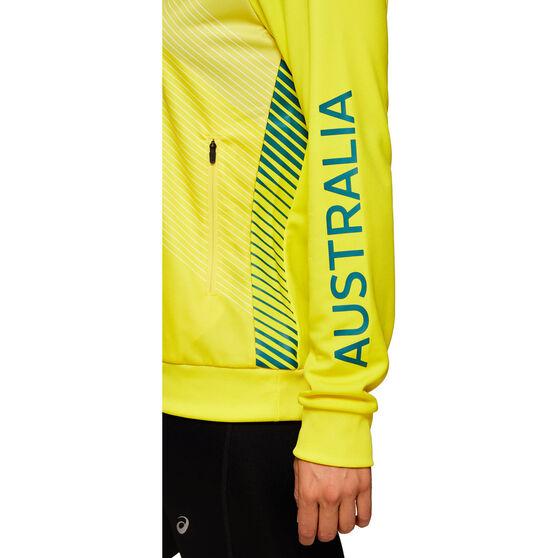 Asics Womens Australian Olympic Village Hoodie, Yellow, rebel_hi-res