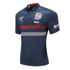 Sydney Roosters 2020 Mens Performance Polo Navy S, Navy, rebel_hi-res