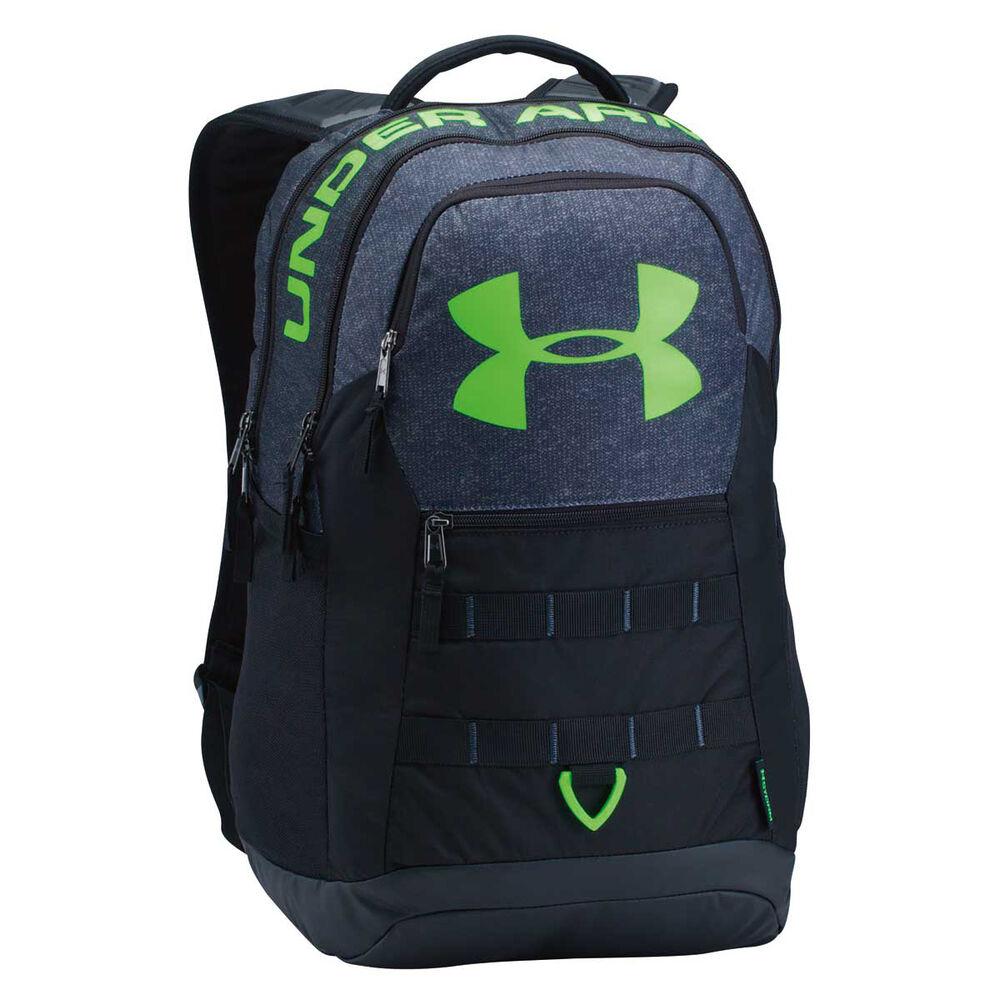 ffe2e622fe4f Under Armour Big Logo 5.0 Backpack Black   Lime