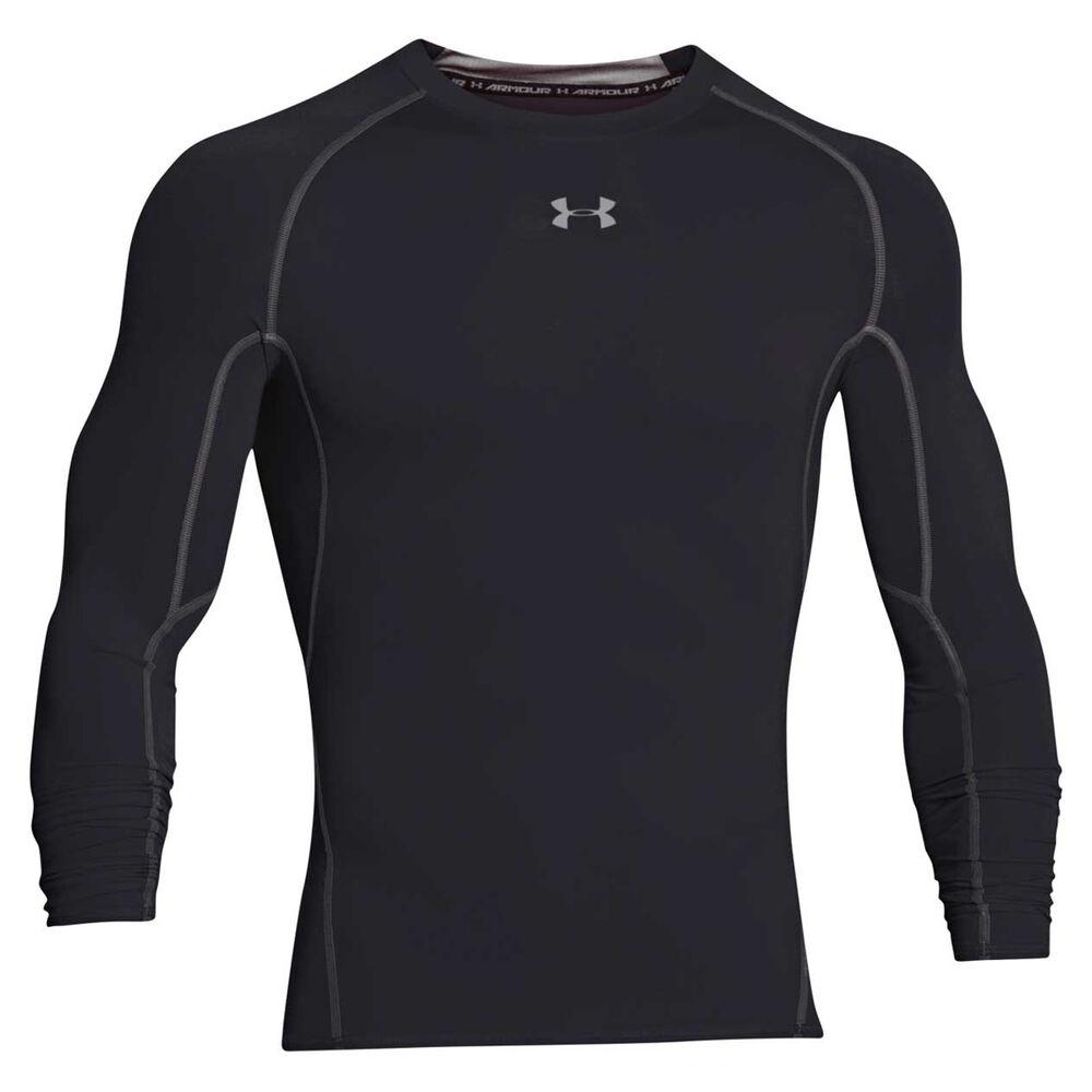 timeless design ed025 fe4c0 Under Armour Mens HeatGear Armour Long Sleeve Compression Top Black L Adult    Rebel Sport
