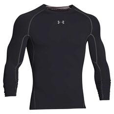 94a52947 Under Armour Mens HeatGear Armour Long Sleeve Compression Top Black S  Adult, Black, rebel_hi