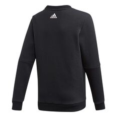 adidas Boys Crewneck Sweatshirt Black / White 6, Black / White, rebel_hi-res