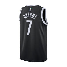 Nike Brooklyn Nets Kevin Durant Mens Icon Edition Swingman Black / White S, Black / White, rebel_hi-res