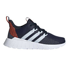 adidas Questar Flow Kids Running Shoes Navy / Red US 11, Navy / Red, rebel_hi-res