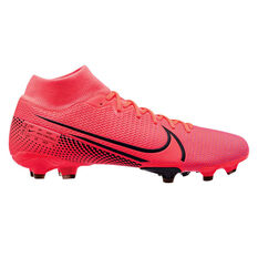 Nike Mercurial Superfly VII Academy MG Football Boots Black / Red US Mens 4 / Womens 5.5, Black / Red, rebel_hi-res