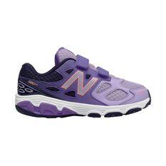 New Balance 680v3 Junior Girls Running Shoes Purple / Grape US 11, Purple / Grape, rebel_hi-res