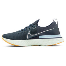 Nike React Infinity Run Flyknit Mens Running Shoes Blue/Silver US 7, Blue/Silver, rebel_hi-res