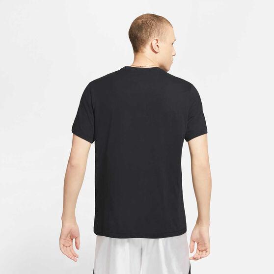 Nike Mens Dri-FIT LeBron Logo Basketball Tee, Black, rebel_hi-res