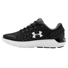 Under Armour Charged Rogue 2 Kids Running Shoes Black/White US 4, Black/White, rebel_hi-res