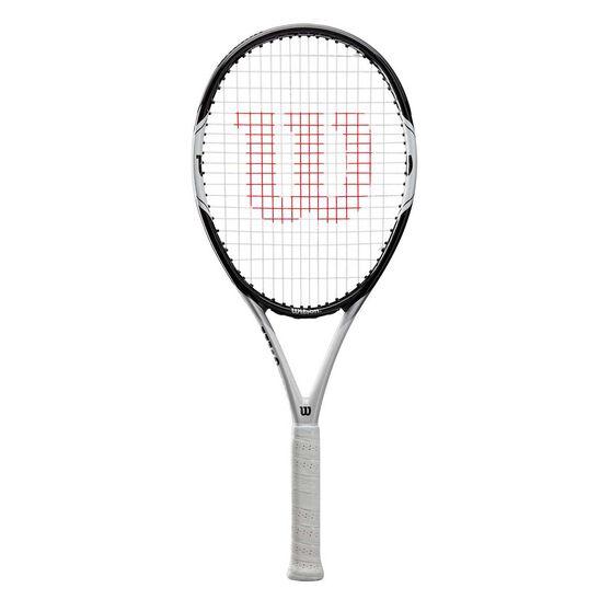 Wilson Federer Pro 105 Tennis Racquet Black / White 4 1/4 in, Black / White, rebel_hi-res