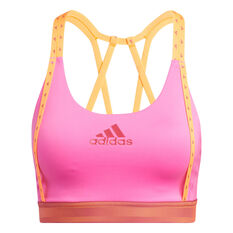 adidas Womens Don't Rest Sports Bra Pink XS, Pink, rebel_hi-res