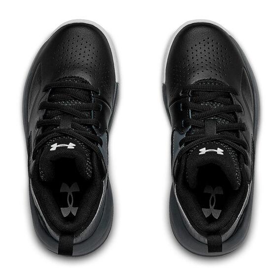 Under Armour Lockdown 4 Kids Basketball Shoes, Black, rebel_hi-res