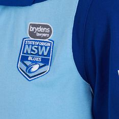 NSW State of Origin Mens Overlay Polo Blue S, Blue, rebel_hi-res