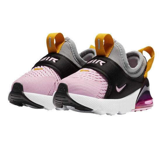 Nike Air Max 270 Extreme Toddler Shoes Black/Pink US 9, Black/Pink, rebel_hi-res
