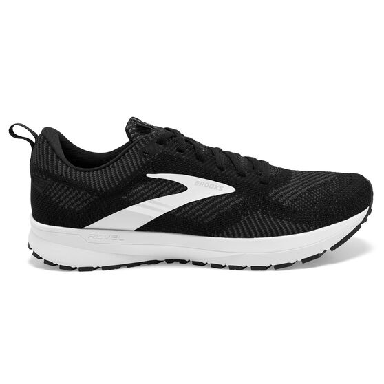 Brooks Revel 5 Mens Running Shoes, Black/Grey, rebel_hi-res
