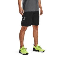 Under Armour Mens Project Rock Mesh Shorts, Black, rebel_hi-res