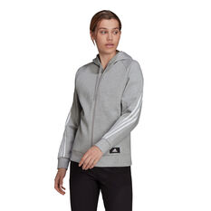 adidas Womens Sportswear Future Icons 3-Stripes Hoodie Grey XS, Grey, rebel_hi-res