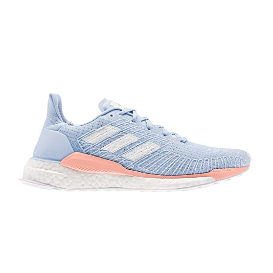 adidas Solar Boost Womens Running Shoes, Blue / Pink, rebel_hi-res