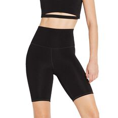 Nimble Womens Ribbed Bike Shorts Black XS, Black, rebel_hi-res