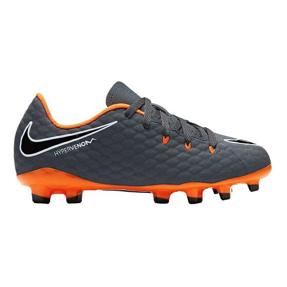 Nike Hypervenom Phantom III Academy Junior Football Boots, Grey / Orange, rebel_hi-res