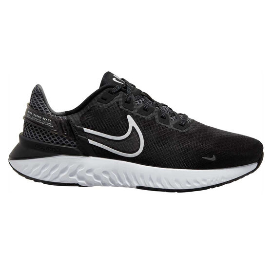 Nike Legend React 3 Mens Running Shoes, Black/White, rebel_hi-res