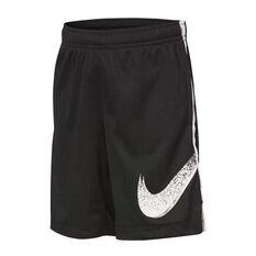 Nike Boys Dry Dominate Graphic Training Shorts Black / White 4, Black / White, rebel_hi-res
